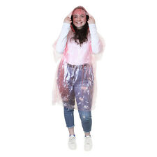 10 FESTIVAL PONCHO Disposable Plastic Raincoat Emergency Rain Waterproof Camping