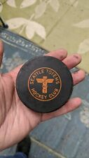 Vintage Seattle Totems WHL Western Hockey League Puck Made In Canada
