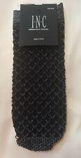 Women's INC International Concepts Metallic Fishnet Anklet Socks Black