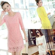 3/4 Sleeve Regular Size Casual Ballgowns for Women