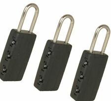 3 Pack Combination Padlocks For Travel Gym Locker Luggage Suitcase Bags Security