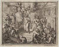 Engel Apostelbriefe Orig. de HOOGHE Kupferstich um 1700 APOSTEL altes TESTAMENT
