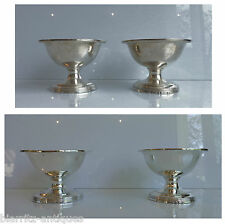 SET OF 4 SILVER SALT CELLARS - INSIDE IN VERMEIL -  HALLMARKS: LONDON 1794