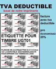 12,000 Etiquettes à imprimer pour timbre Mon timbre en ligne 63,5 x 33,9 mm 70gs