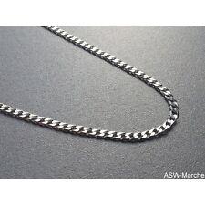 Panzerkette diamantiert ECHT 925 Silber Sterling Silberkette Halskette