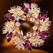 Breastpin Broach Pins Clear Fashion Wedding Flower Crystal Brooch Rhinestone