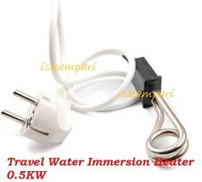 Travel Water Immersion Heater Mini Boiler Travel Camping  Hot Water Coffee 500W