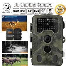 Waterproof 1080p Full HD 12mp Hunting Trail Camera Wildlife PIR IR Motion Sensor