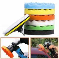 "9x 5"" 125mm Waxing Buffing Sponge Buffer Polishing Pad Kit Set For Car Polisher"