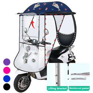 Large Mobility Scooter Sun Rain Cover Shade Protector Electric Vehicle Umbrella