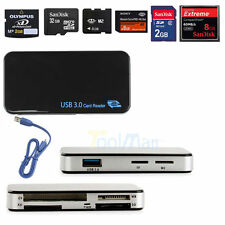 USB 3.0 Compact Flash Multi Memory Card Reader Adapter CF Micro SD TF X & Cables