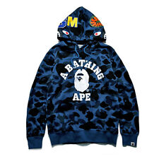 Men's Bape A Bathing Ape Full Zip Shark Head Camo Hoodie Coat Sweatshirt Jacket