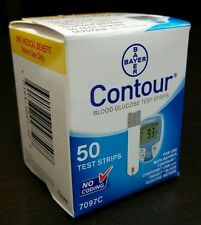 50 Bayer's CONTOUR (7097C) Glucose Test Strips DME Exp 01/2018 NCD# 0193-7097-50