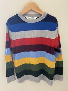 H&M boys stripe sweater size 4-6