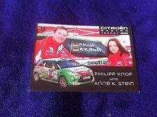CP POSTCARD CARTOLINA CITROEN DS3 KNOF RALLY WRC RALLYE 2014