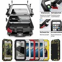 Shockproof Aluminum Gorilla Metal Glass Metal Case Cover for iPhone XS 8/6S Plus