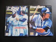 Street and Smith's Baseball Magazine - Lot of Two -1986 / 1987 Toronto Blue Jays