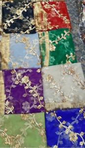 Net Dupatta fancy gota work for parties weddings variations   great colours