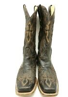 Corral Brown Distressed Leather Cross Wings Cowboy Western Boots Men's 12 D