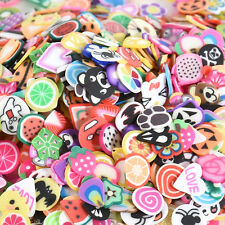 Fruit Animals DIY 3D 1000pcs Fimo Slice Clay Nail Art Tips Sticker Decoration