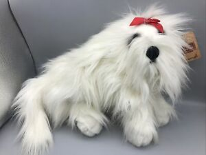 "Dulcie The Maltese Pup Stuffed Animal Dakin Lou Rankin Friends Dog Plush 16"""