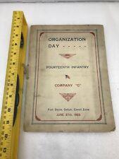 Organization Day 14Th Infantry June 27 1923 Fort Davis Gatun Canal Zone Comp. G