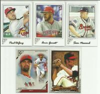 2017 Topps Gallery Baseball 5 Card Rookie & Insert Lot RC