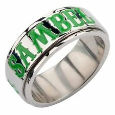 Authentic Sons Of Anarchy Unisex Shamrock Ireland Spinner Soa Ring Size 11