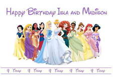 Disney Inspired Princesses Personalised Hand Made Printed Card