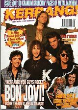 Bon Jovi on Kerrang Cover Issue 500 1994      Napalm Death     Slash     Prong