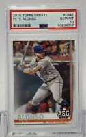 Pete Alonso 2019 Topps Update #US47 New York Mets Rookie Card PSA 10 Gem Mint 🔥