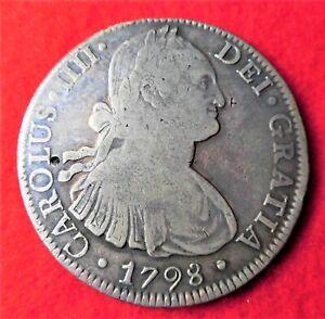 Nueva Espana, Mexico (1521-1821), AR 8 Reales, 1798 AD, FM, Mexico City, KM-109