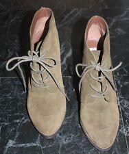 Khaki Green Suede STEVE MADDEN Jayson Heeled Ankle Boots UK7