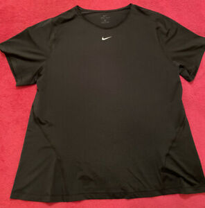 NIKE Plus Training Pro T-shirt In Black Mesh Womens Size 1X BNWOT