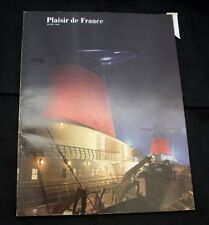 "CGT FRENCH LINE SS ""FRANCE"" Plaisir De France Magazine"