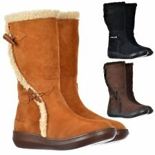 Synthetic Leather Suede Boots for Women