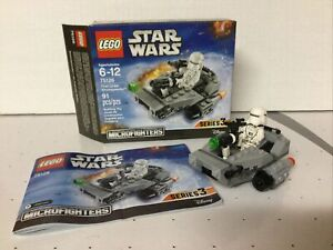 LEGO Star Wars First Order Snowspeeder (75126) Complete, Box, Instructions
