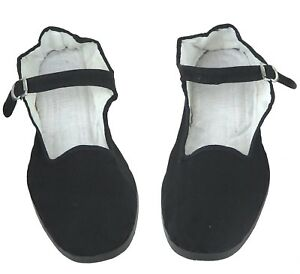 Women's Chinese Mary Jane Cotton Shoes Slippers in Black - Sizes 35 - 42 New