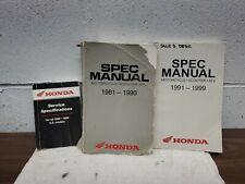 Honda Motorcycle, Atv, & Scooter Spec Manual 1959 - 1999 Us Models Used 3 books