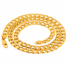 Men's Boy Stainless Steel 18K Gold Plated Curb Cuban Chain Necklace Jewelry Gift