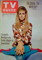 TV Guide 1968 Bewitched Elizabeth Montgomery Turns Hippie Moorehead EX/NM COA