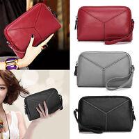 Women Lady's Leather Clutch Handbag Wallet Long Card Holder Phone Bag Case Purse