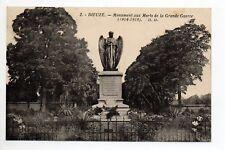 DIEUZE DUSS Moselle CPA 57 le monument aux morts de la grande guerre 1914/1918