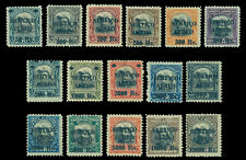 BRAZIL 1927  AIRMAIL surcharged set  Scott # C1-C16  mint MH