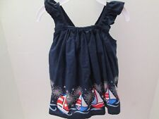 Navy Sundress Fireworks, 4th of July, Patriotic Pattern, Size 3-6 Months, NWT