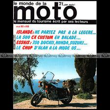 LE MONDE DE LA MOTO N°68 VELO SOLEX 3800 SUZUKI GS 750 HONDA CB 750 FOUR F2 KZ