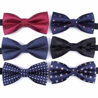 Men's Formal Bow Tie Striped Polyester Neck Ties High Quality Neck Wear For Boys