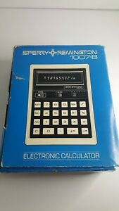 Sperry Remington Electronic Calculator 1007-B COMPLETE In Box TESTED AND WORKS