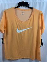 The Nike Tee Dri Fit Women's Athletic Tee Shirt Orange Size 1X