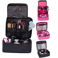 Professional Large Makeup Bag Cosmetic Case Storage Handle Organizer Pouch Case